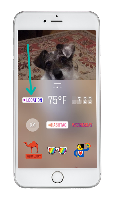Instagram Story Location Sticker