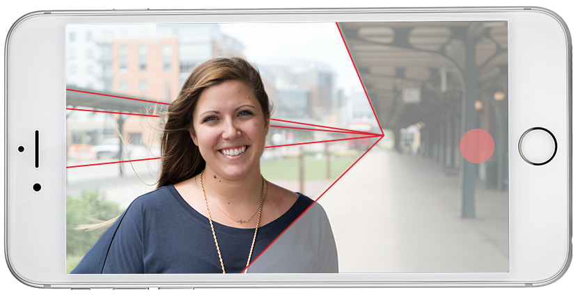 iPhone video tips leading lines on image