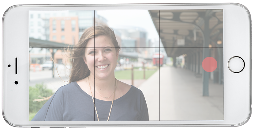 iPhone video tips Rule of Thirds on image