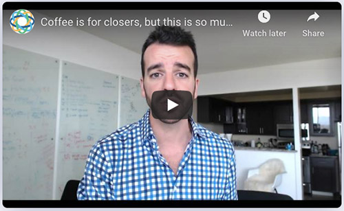 Screenshot of one of Close's daily sales motivation videos