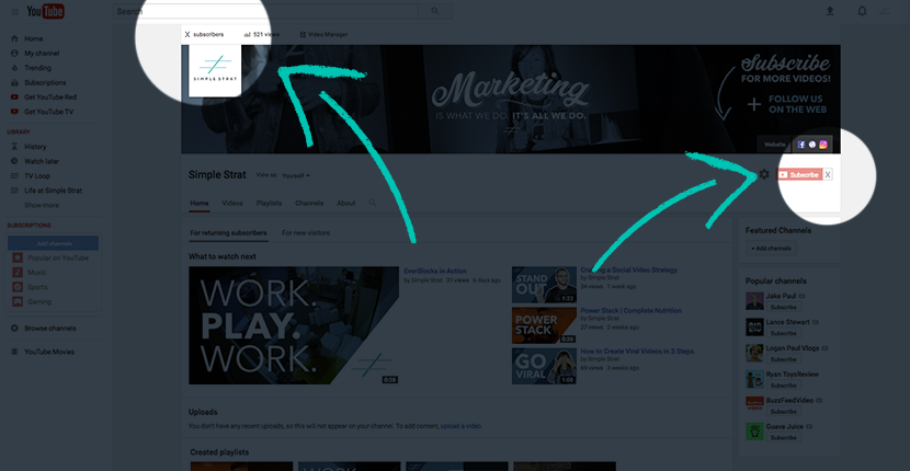 Video-Analytics-Subscriber-Count