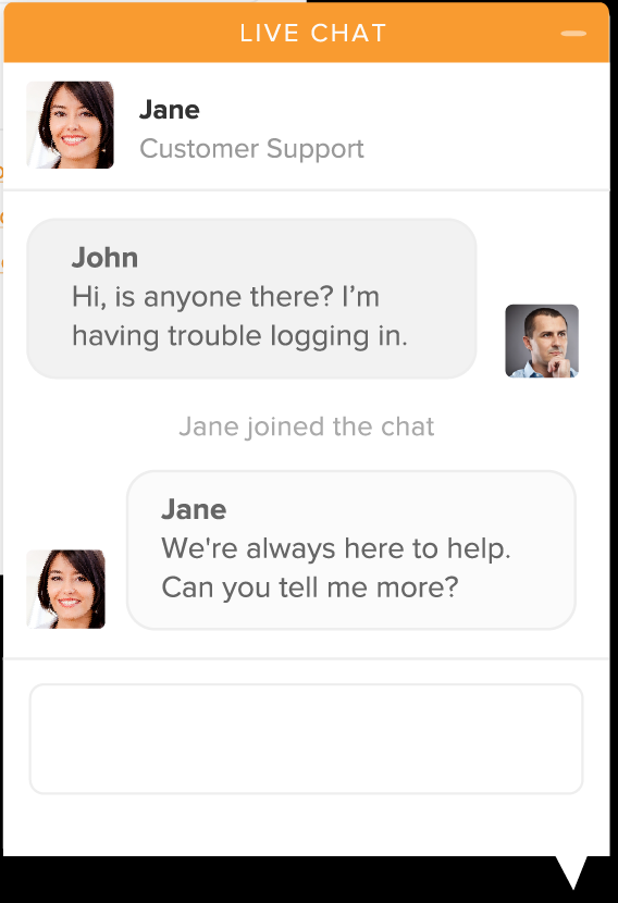 zendesk chat screeenshot