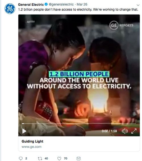 An example of impact marketing