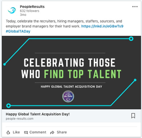 Good example of industry related content sharing