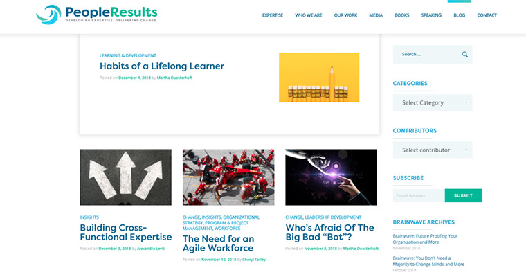 Example of a well done B2B blog