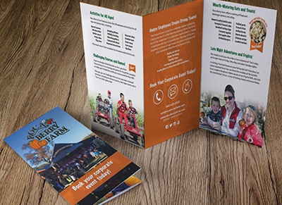 Marketing Collateral: Brochure. Tri-fold brochure for Roca Berry Farm, created by Simple Strat.