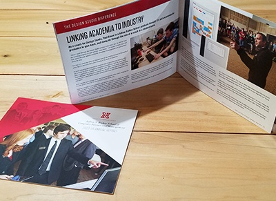 Marketing Collateral: Brochure. Booklet style brochure for University of Nebraska at Lincoln, created by Simple Strat.