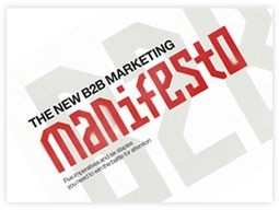 Marketing collateral: ebook. Ebook Cover: The New B2B Marketing Manifesto by Velocity Partners.
