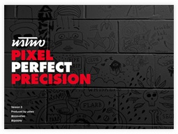 Marketing collateral: ebook. Ebook cover: Pixel Perfect Precision by ustwo