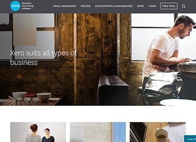Marketing collateral: testimonials. Xero product testimonials displayed on their website.