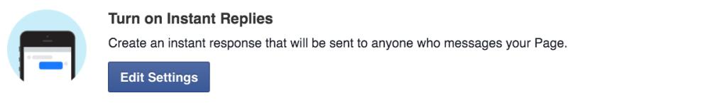 Turn on Instant Replies in Facebook