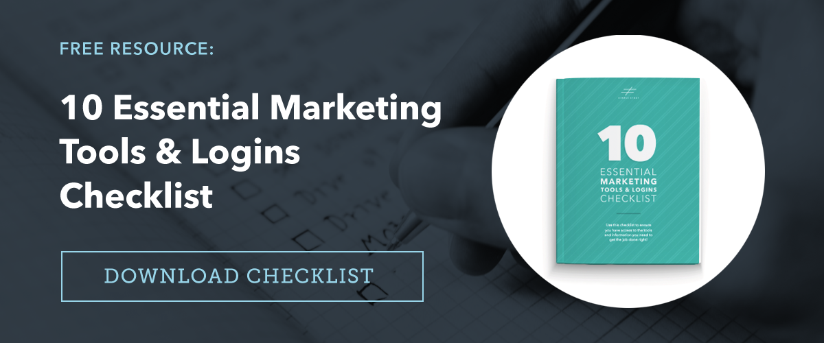 10 Essential Marketing Tools and Logins Checklist
